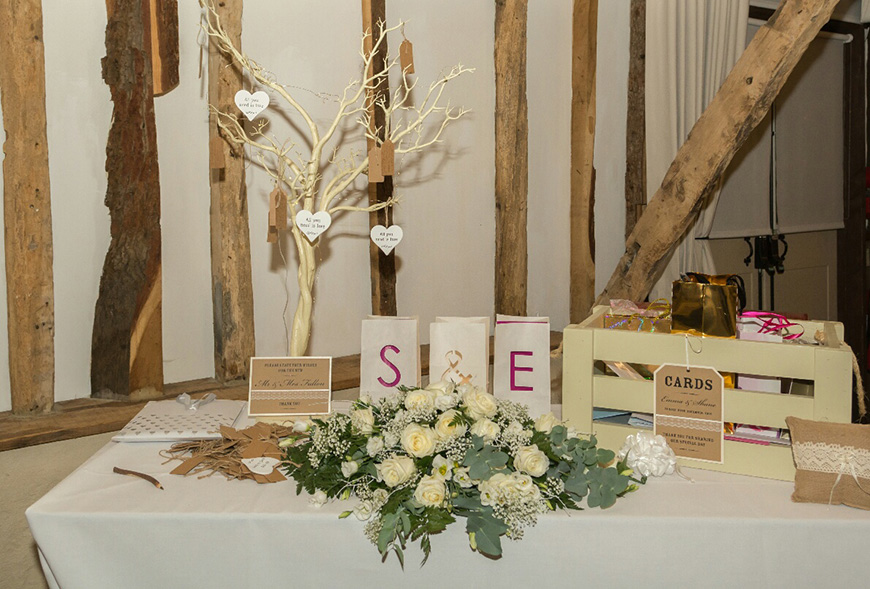 A Subtle Winter Wedding at Clock Barn for Emma and Shane - Wish tree | CHWV