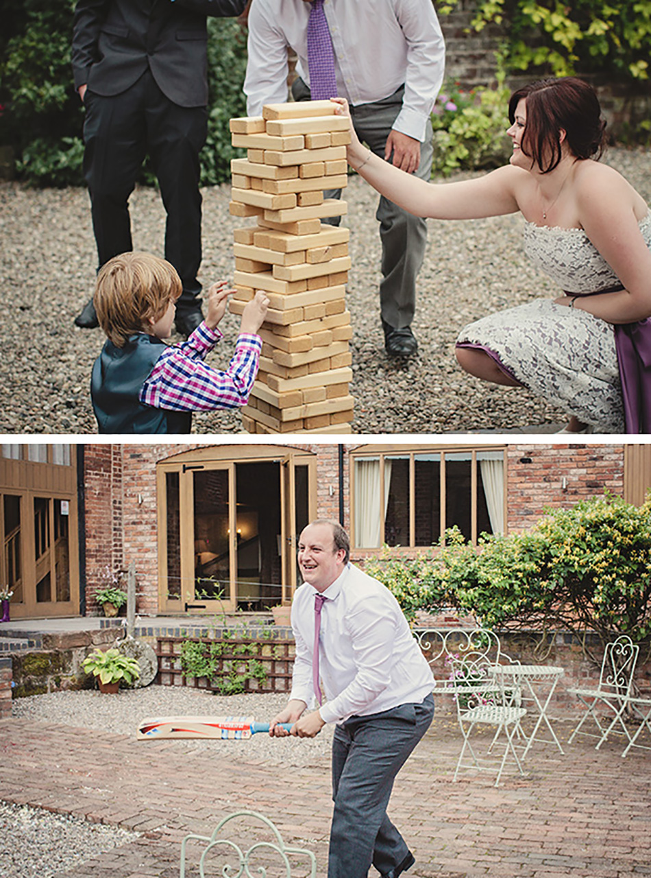 Entertaining your wedding guests outside - outdoor wedding fun and games
