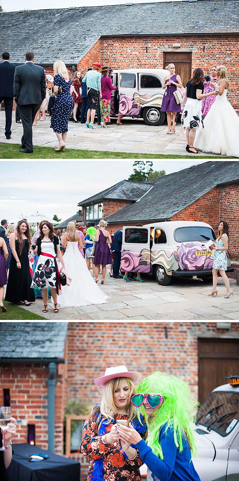 Entertaining your wedding guests outside - photo booth fun