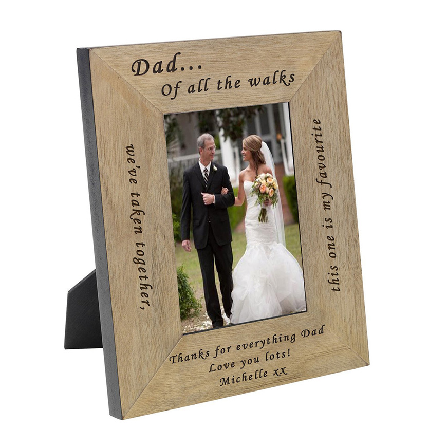 8 Father of the Bride Gift Ideas - Photo frame | CHWV
