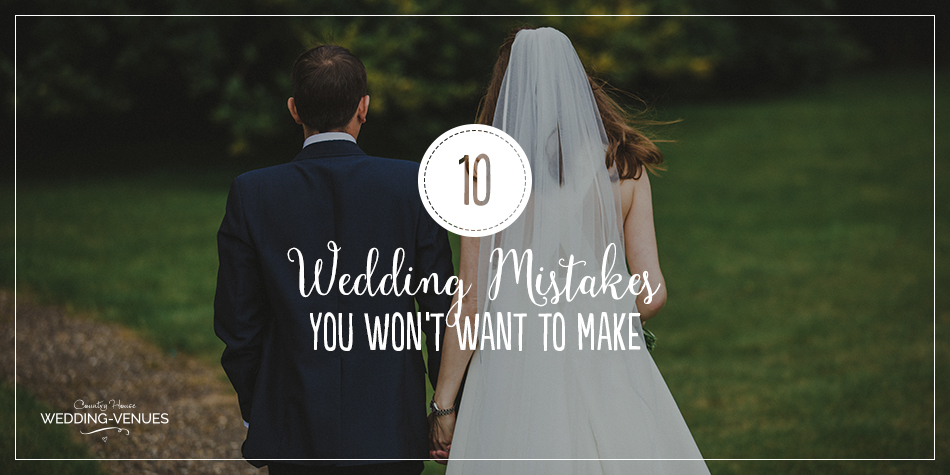 When it comes to your wedding planning, there's so much going on that some things are bound to turn out slightly differently to how you imagined it would. Some things are definitely avoidable however, so follow our top tips and avoid making these common wedding mistakes!
