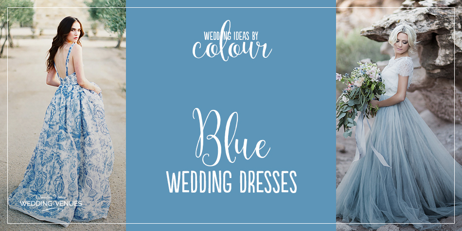 If you're looking to introduce colour to your wedding dress, blue is a great choice. It's wonderfully versatile, from the softest powder blue to shades of deep midnight, and it's a colour that your bridesmaids and your groom will probably enjoy wearing too. We look at some of our favourite blue wedding dresses, whether you choose to wear an entirely blue gown or just to add a hint of colour.