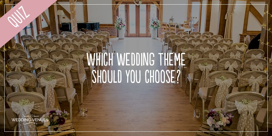 When it comes to dreaming up the perfect wedding theme, there are so many different choices that might be wondering where to begin! Well, take our quiz and we'll give you a helping hand so you can pick the perfect theme to suit you and your wedding venue. Once you've got your result make sure you check out all our amazing wedding ideas for plenty more inspiration.