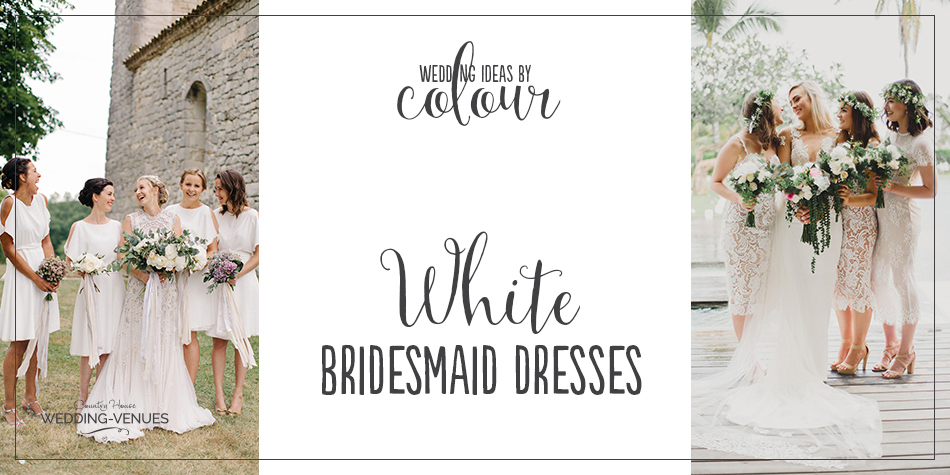 Traditionally, it's frowned upon for a female guest to wear a white dress to a wedding. After all, no one should attempt to upstage the bride! However, when it comes to your bridesmaids, you might decide to break the rules. After all, Pippa Middleton wore white as she followed her sister down the aisle!