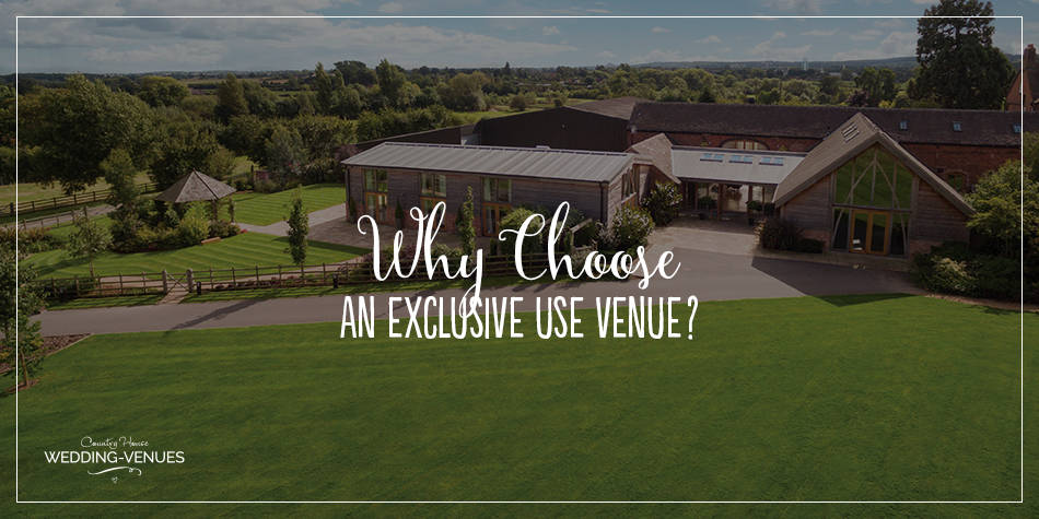 If you're thinking of choosing an exclusive use wedding venue but are not sure whether it's for you, never fear! We're here to tell you all about them and why we think you'll love having one for your big day.