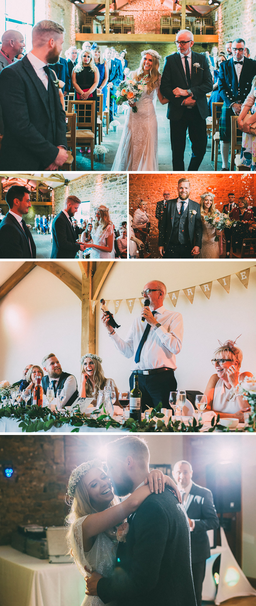 Real Wedding - Fiona and Josh's Unique Themed Wedding at Dodford Manor - The day