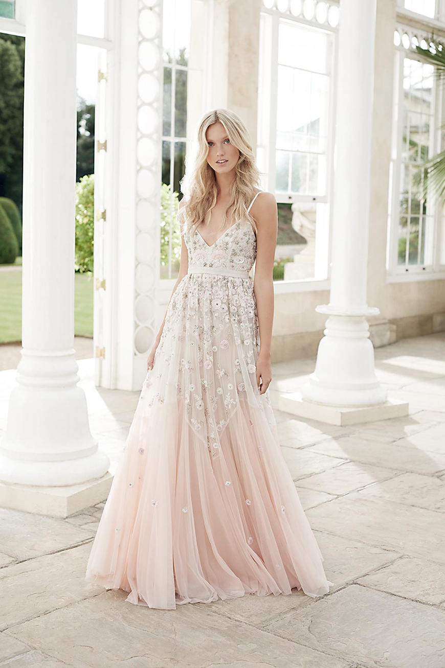 Do You Really Need To Follow These Wedding Traditions? - Pink wedding dress | CHWV