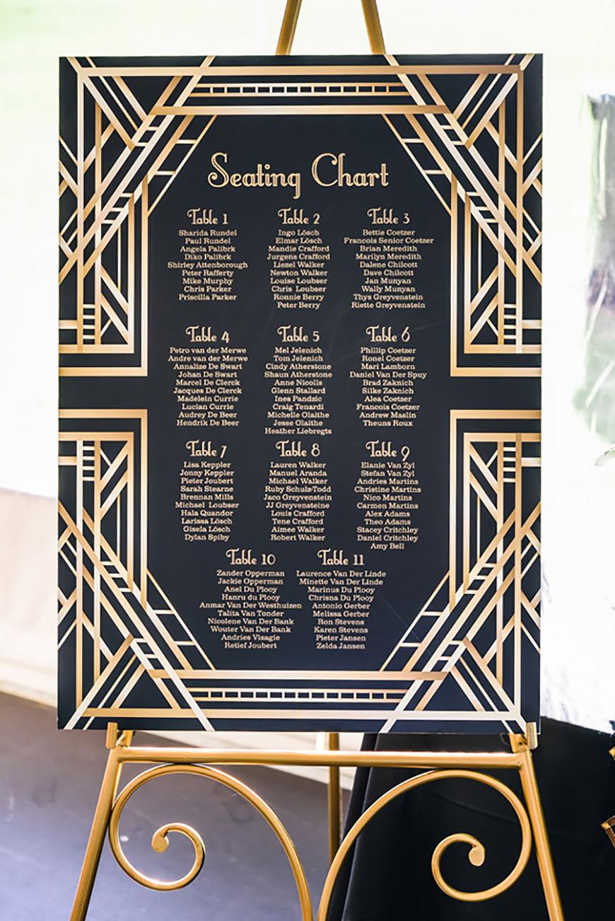 Wedding Ideas By Colour: Gold Wedding Table Plans - Classic elegance | CHWV