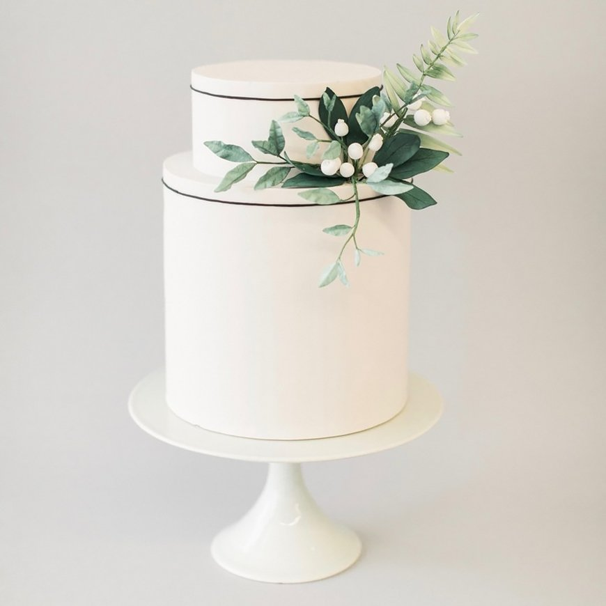 Wedding Ideas By Colour: Green Wedding Cakes - Just a hint | CHWV