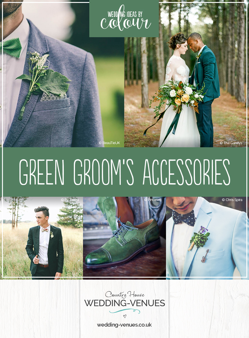 Wedding Ideas By Colour: Green Groom's Accessories | CHWV