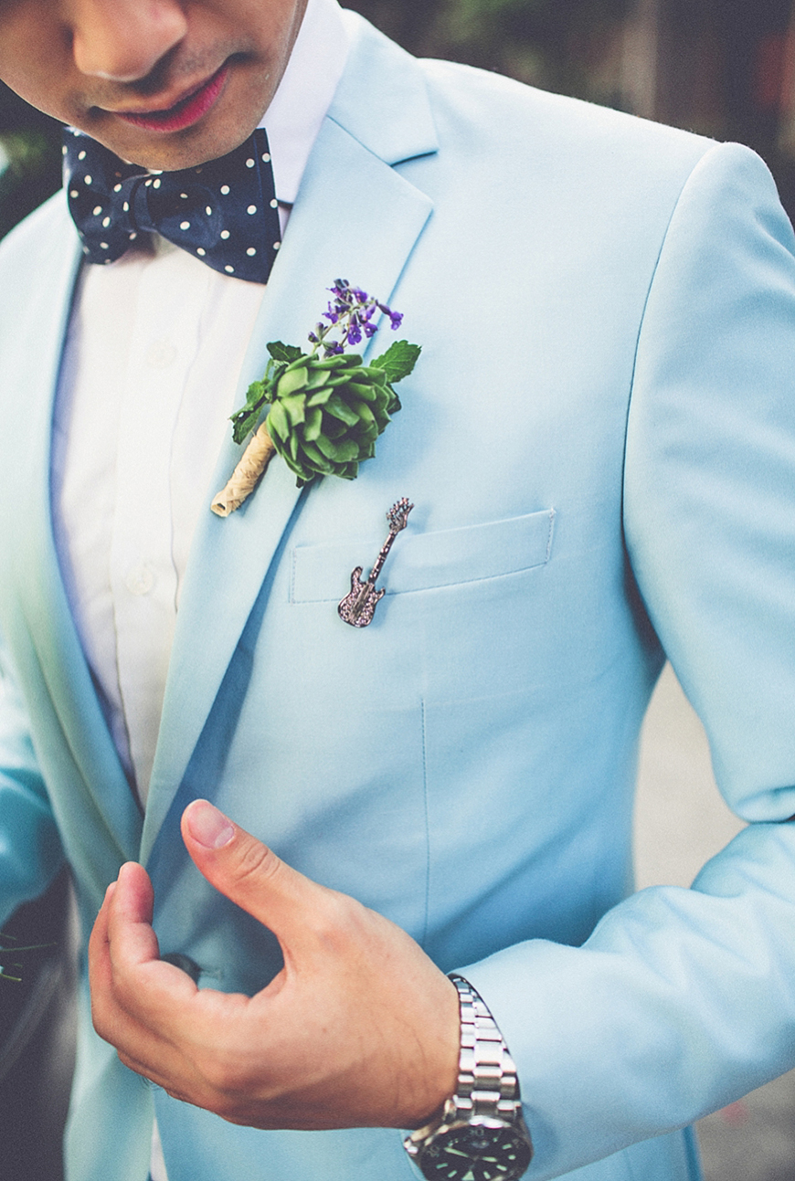 Wedding Ideas By Colour: Green Groom's Accessories - Buttonholes | CHWV
