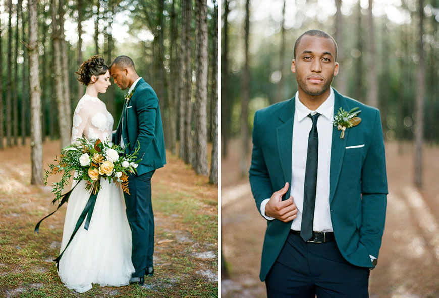 Wedding Ideas By Colour: Green Groom's Accessories - Suits | CHWV