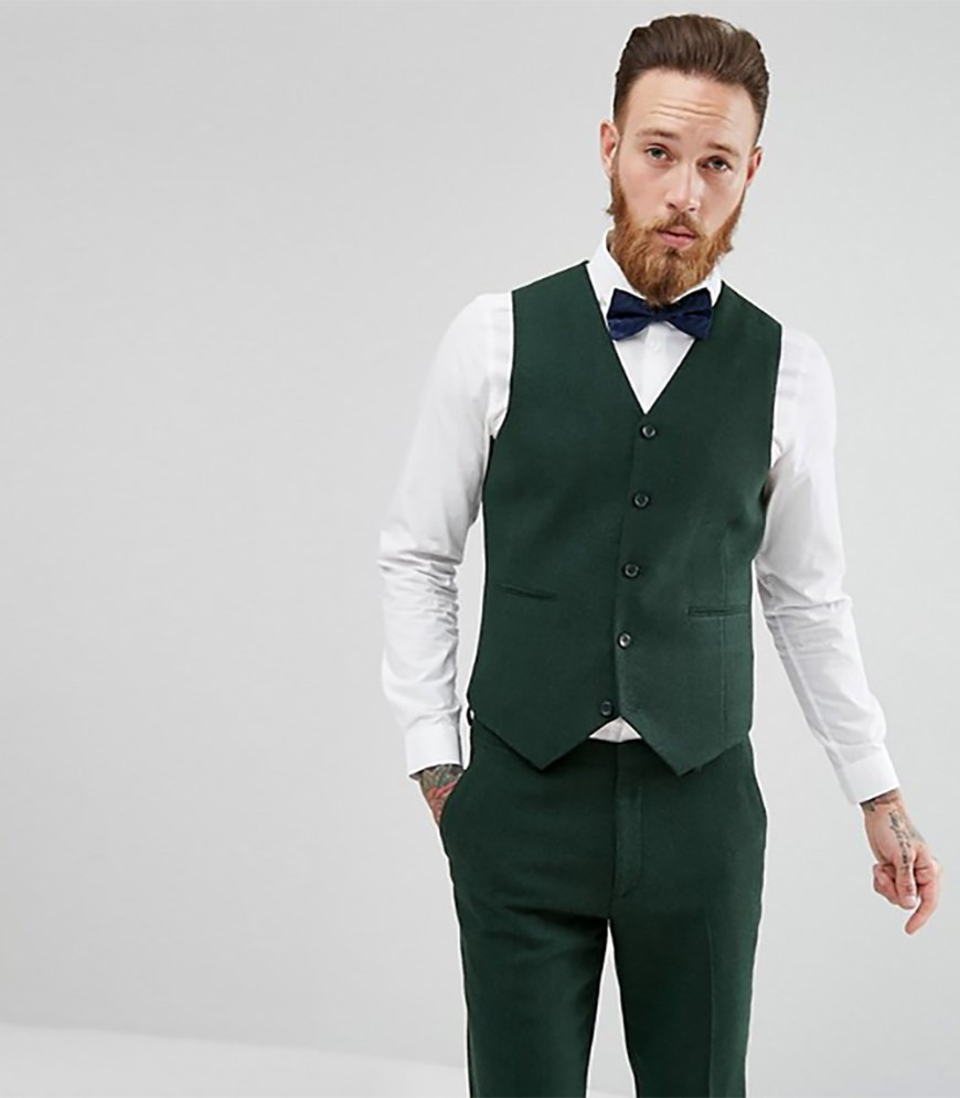 Wedding Ideas By Colour: Green Groom's Accessories - Waistcoats | CHWV