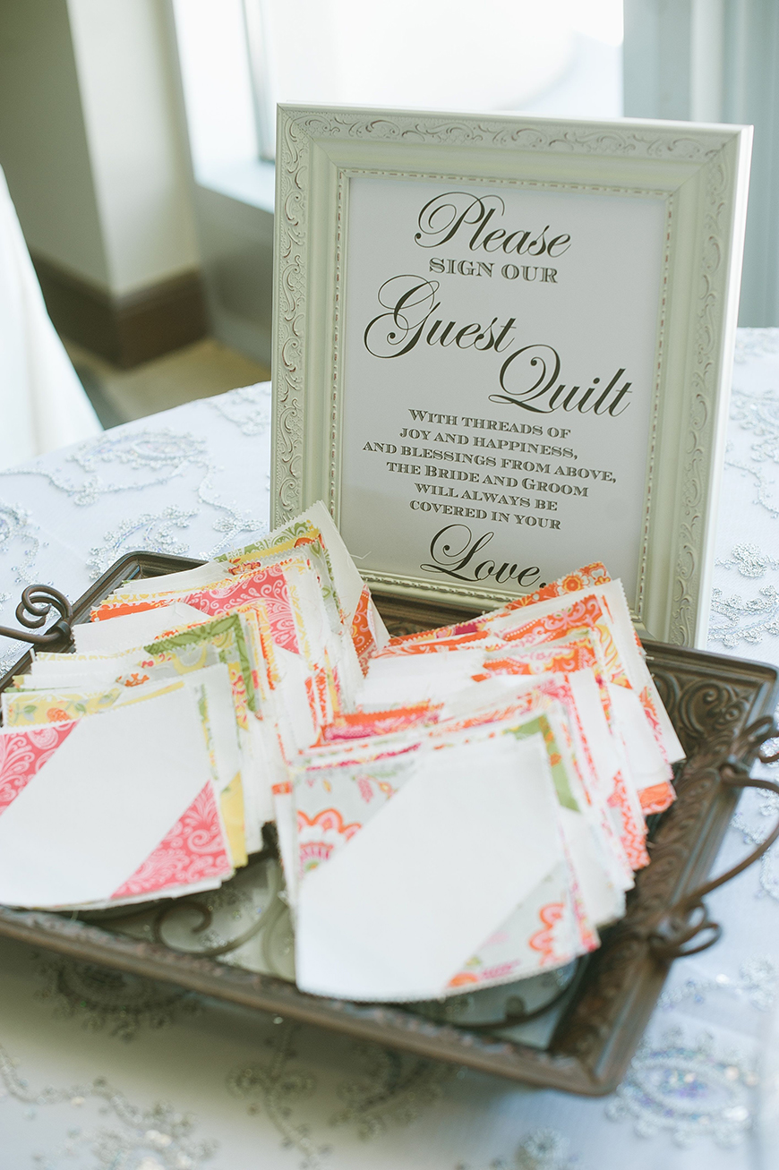 Guest Book Ideas You Won't Want To Miss - Quilt squares | CHWV