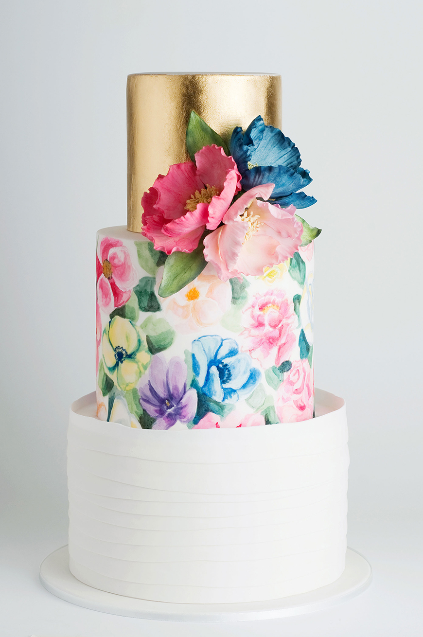 hand painted wedding cakes uk painted wedding cakes you to see chwv 15065