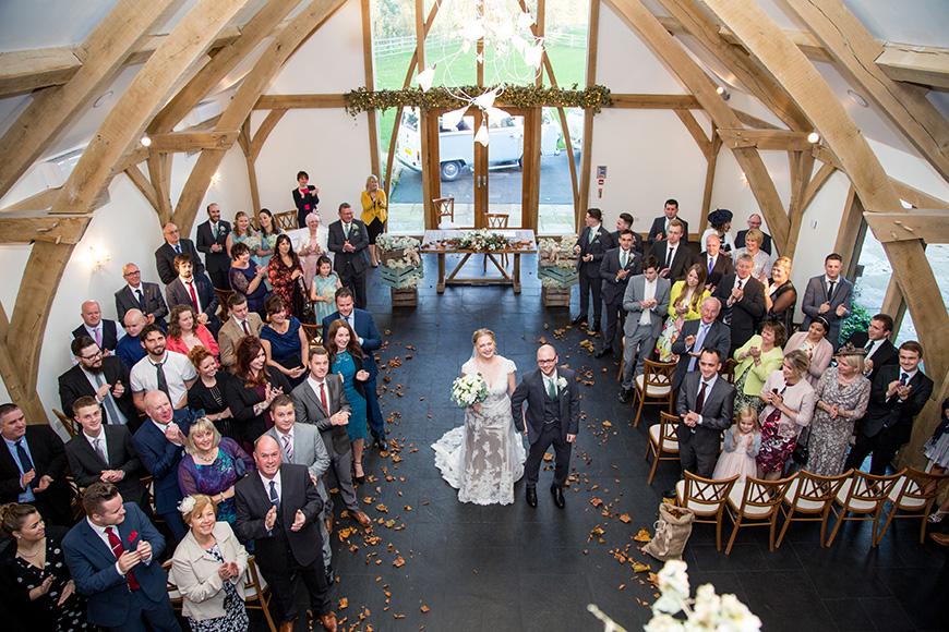Hannah and Gareth's real life wedding at Mythe Barn - Ceremony | CHWV