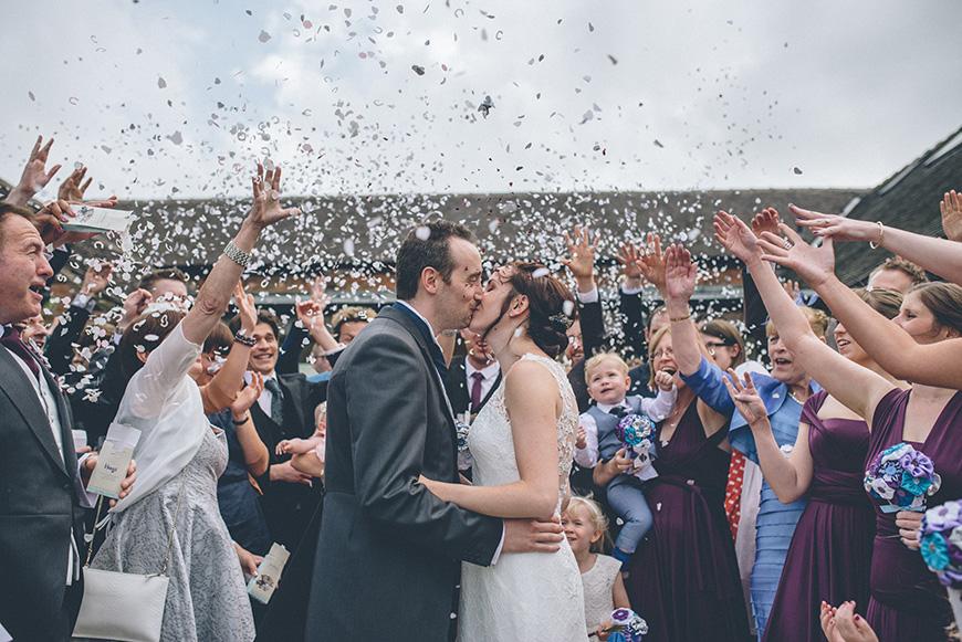 Real Wedding - Hazel and Chris' DIY Barn Wedding at Mythe Barn - The ceremony | CHWV