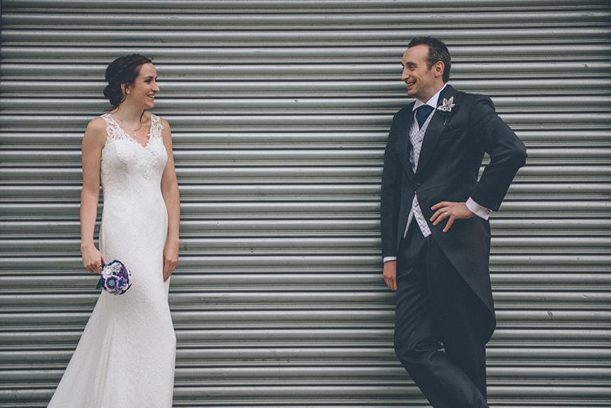 Real Wedding - Hazel and Chris' DIY Barn Wedding at Mythe Barn - Happy couple | CHWV