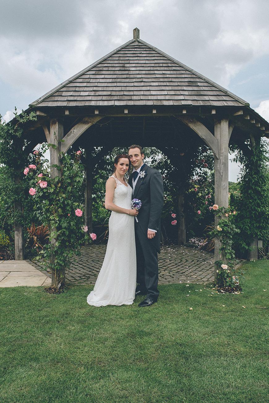 Real Wedding - Hazel and Chris' DIY Barn Wedding at Mythe Barn - Oak gazebo | CHWV