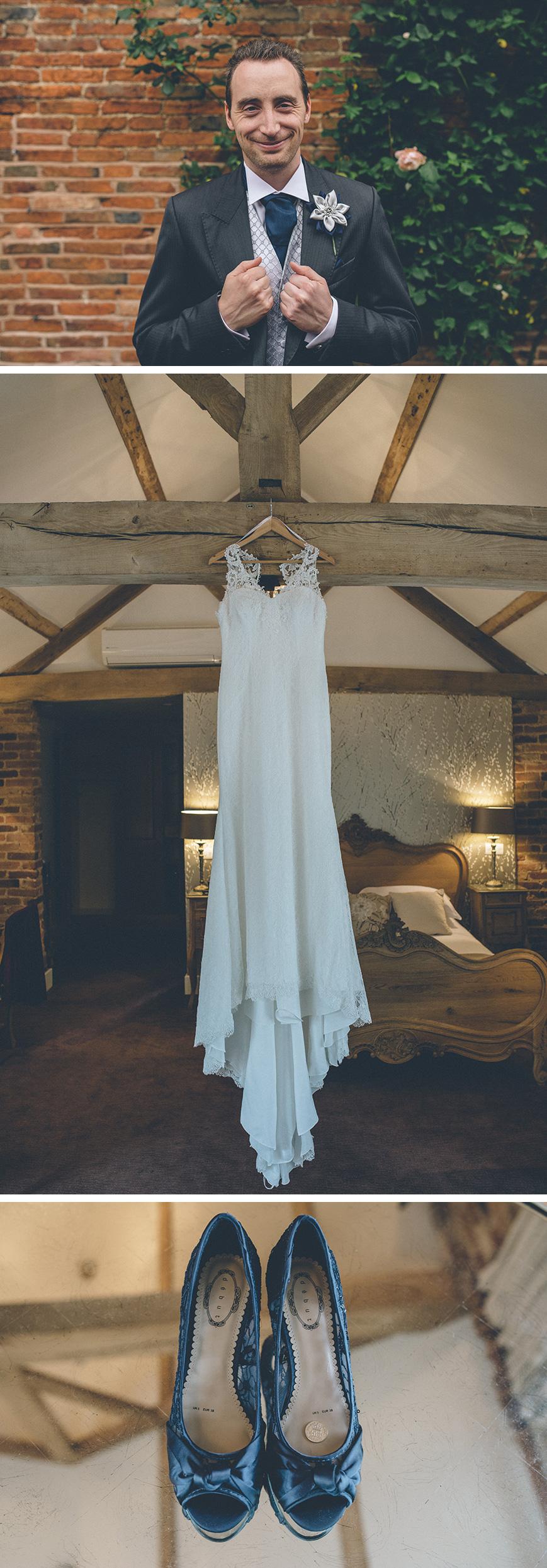 Real Wedding - Hazel and Chris' DIY Barn Wedding at Mythe Barn - Outfits | CHWV