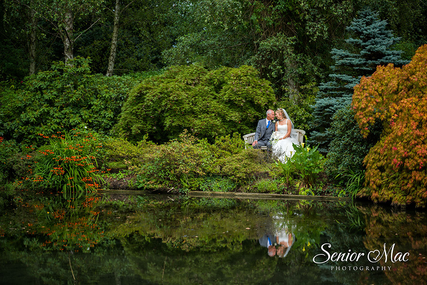 Heather and Stuart's real life wedding at Rivervale Barn - Gardens | CHWV