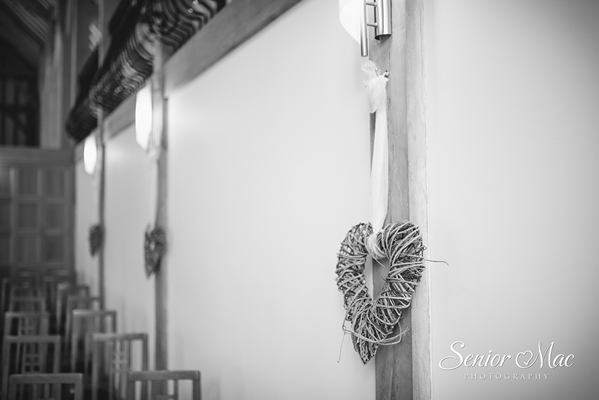 Heather and Stuart's real life wedding at Rivervale Barn - Heart | CHWV