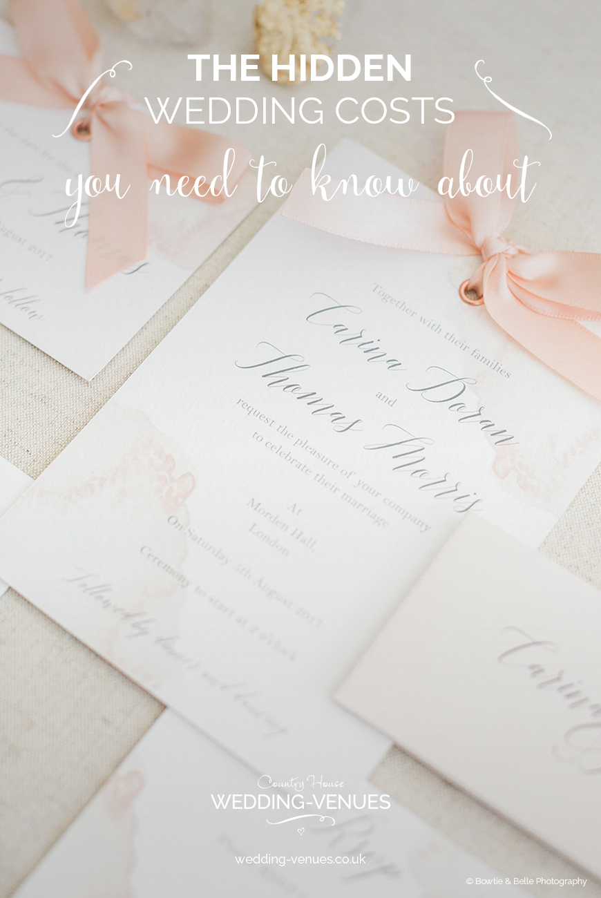 The Hidden Wedding Costs You Need To Know About | CHWV