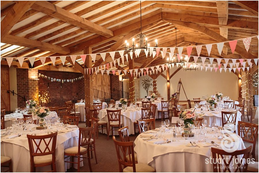 A feel-good, autumnal wedding at Packington Moor - Set up for reception   CHWV