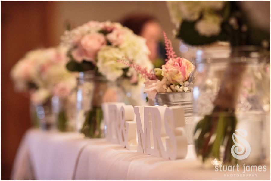 A feel-good, autumnal wedding at Packington Moor - Table decorations | CHWV