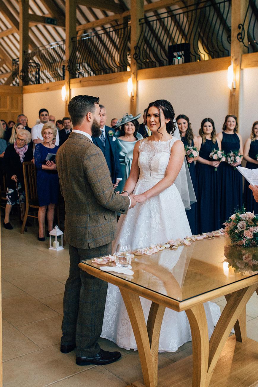 Real Wedding - Jade and Ellis's Elegant Spring Wedding at Rivervale Barn | CHWV