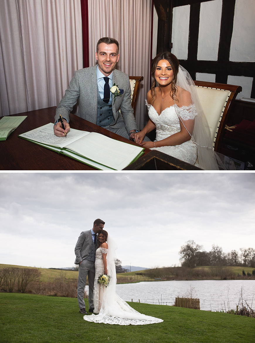 Real Wedding - Jade & Matt's Contemporary Gold Wedding at Sandhole Oak Barn | CHWV