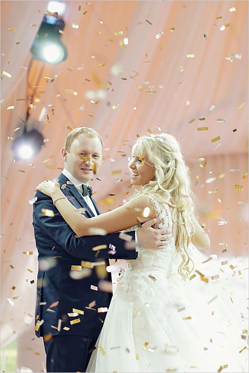 25 Jaw Dropping Wedding Ideas - Confetti showers | CHWV
