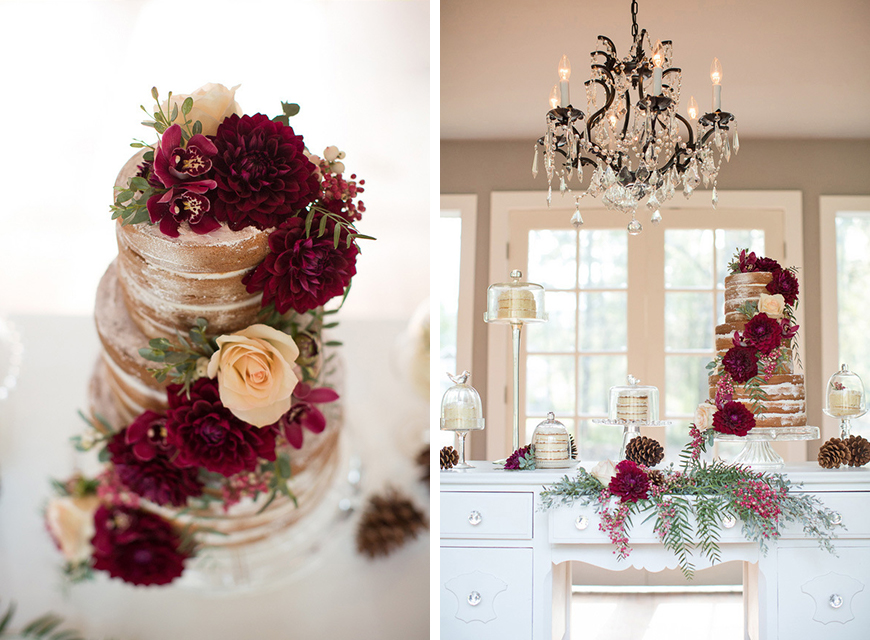 Wedding Ideas By Colour: Jewel Tone Wedding Theme - All about cake | CHWV