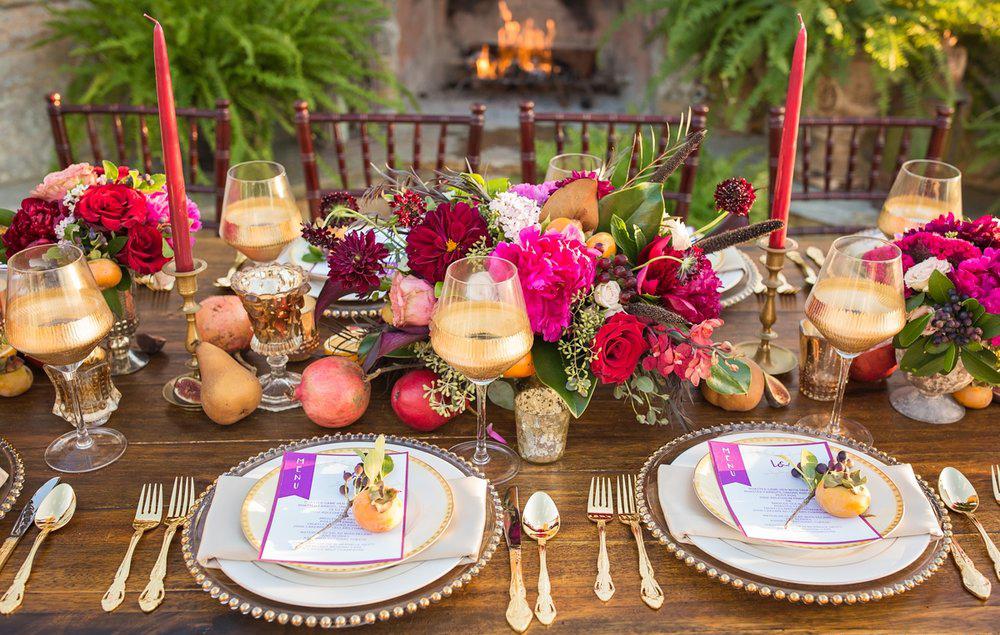 Wedding Ideas By Colour: Jewel Tone Wedding Theme - Fabulous florals | CHWV