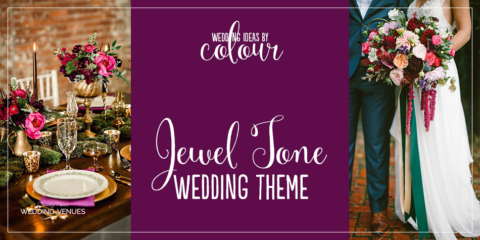 If you're planning to introduce a jewel tone wedding theme, it's important to decide on your shades. You might choose just one colour – perhaps a rich plum combined with a hint of metallic gold – or decide to embrace a selection of hues. We hope this colour palette will inspire.