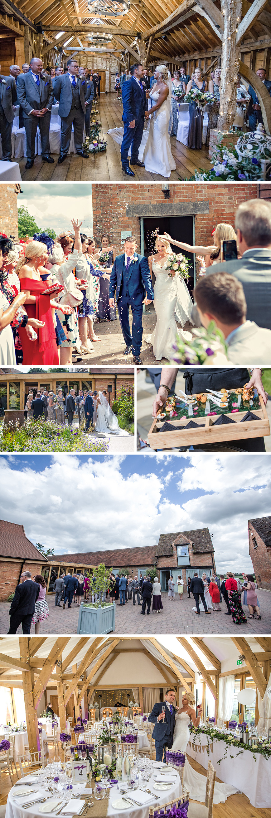 Real Wedding - Karen and Martin's Shabby-Chic Wedding At Bassmead Manor Barns | CHWV