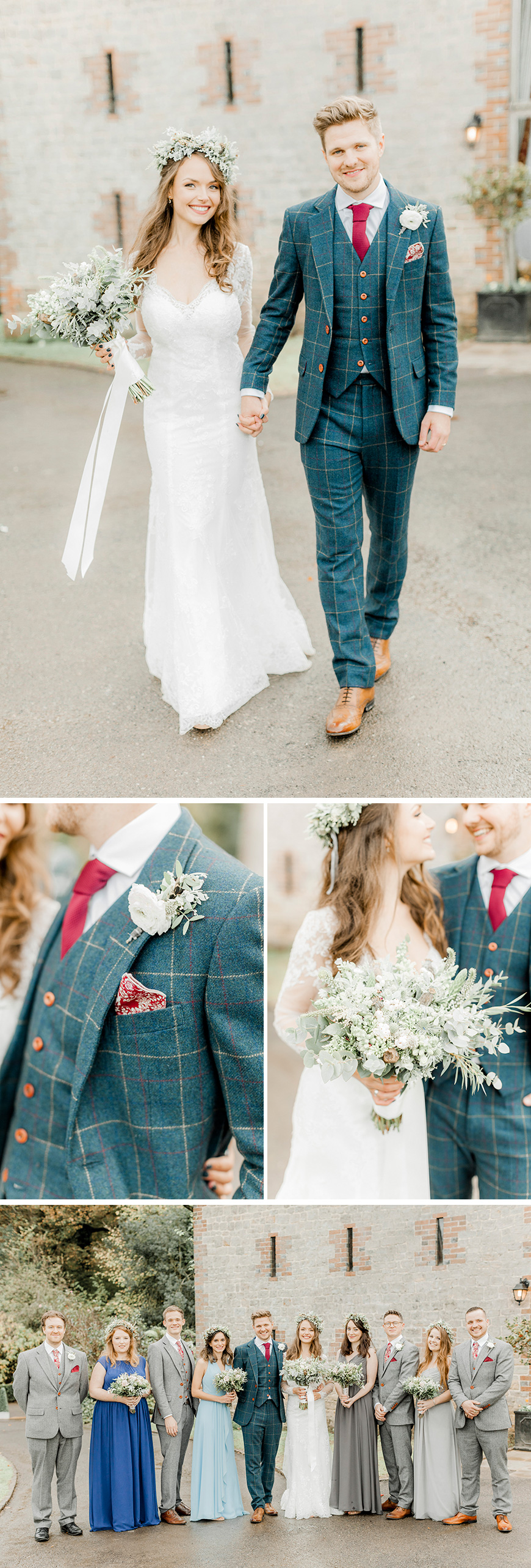Real Wedding - Keziah and Sam's Romantic Woodland Wedding at Bartholomew Barn | CHWV