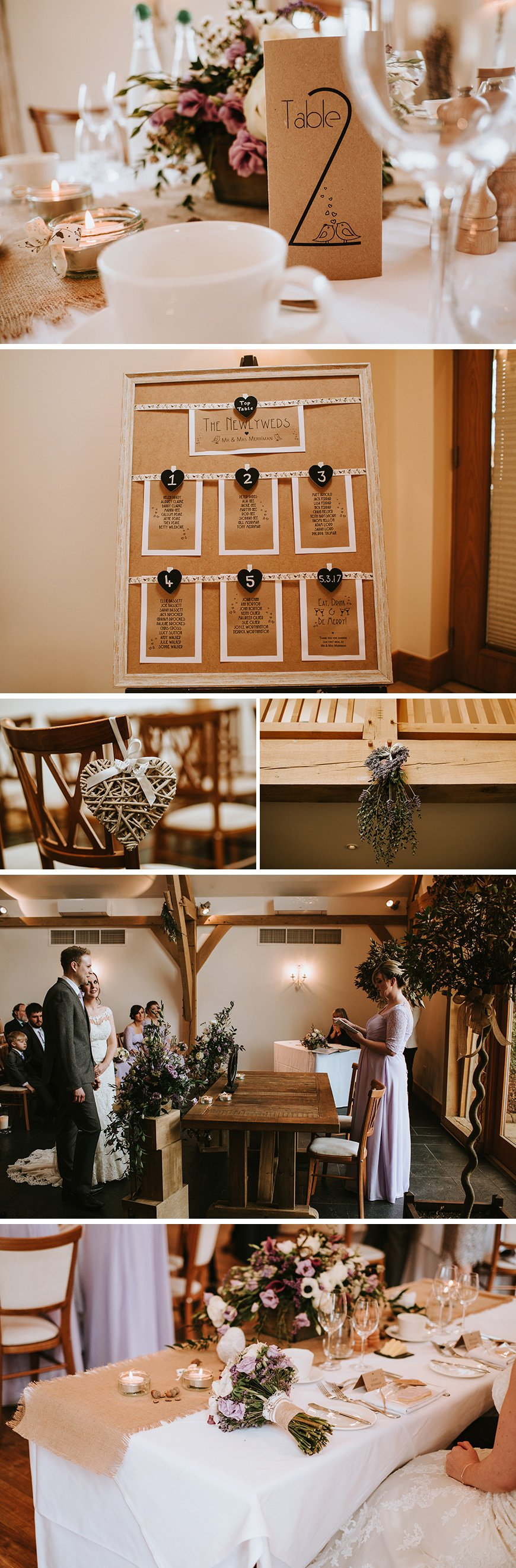 Real Wedding - Laura and Matthew's Rustic Country Wedding at Mythe Barn | CHWV