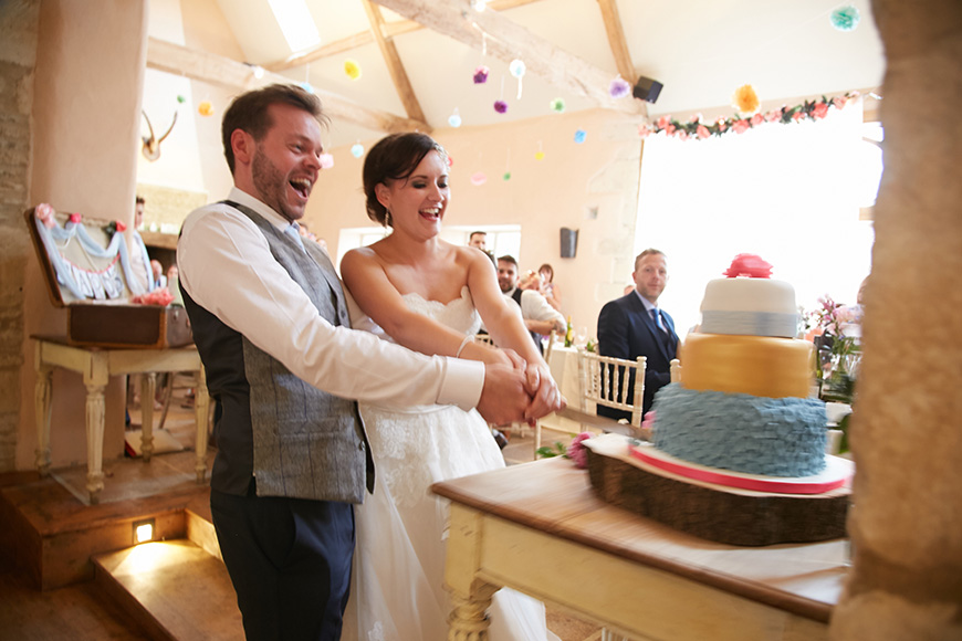 Leanne and Louis' Handmade Wedding at Oxleaze Barn | CHWV