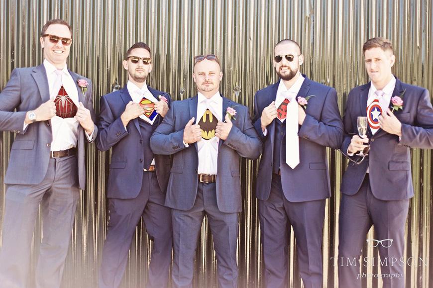 Lisa and Mark's real life wedding at Upwaltham Barns - The groomsmen | CHWV