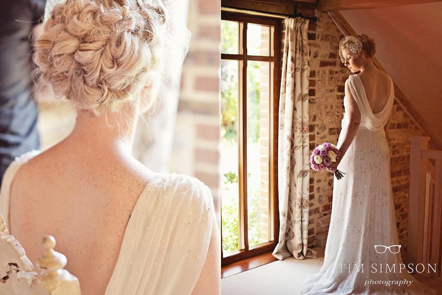 Lisa and Mark's real life wedding at Upwaltham Barns - Lisa's dress | CHWV
