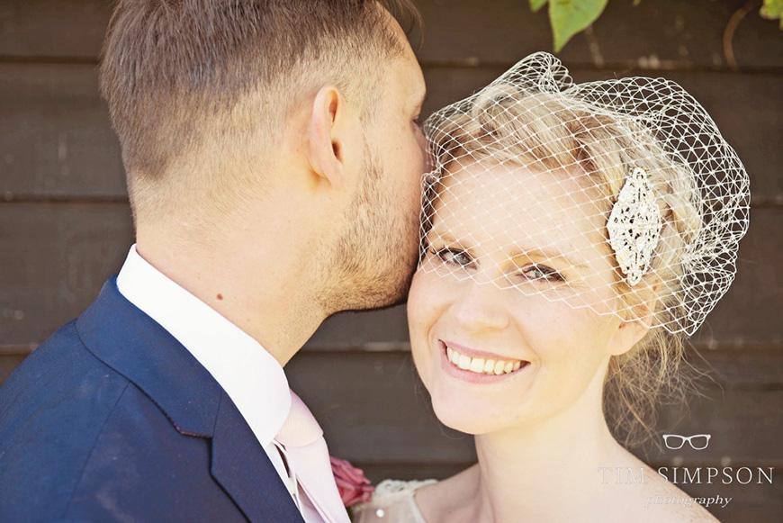 Lisa and Mark's real life wedding at Upwaltham Barns - The happy couple | CHWV