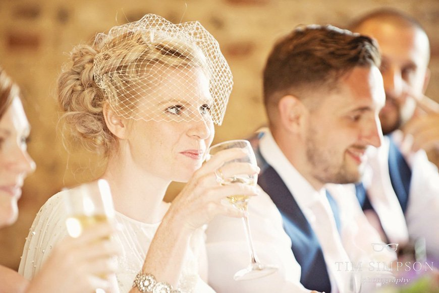 Lisa and Mark's real life wedding at Upwaltham Barns - Speeches | CHWV