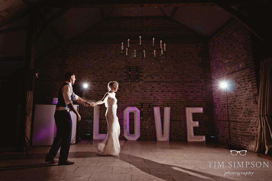 Lisa and Mark's real life wedding at Upwaltham Barns - First dance | CHWV