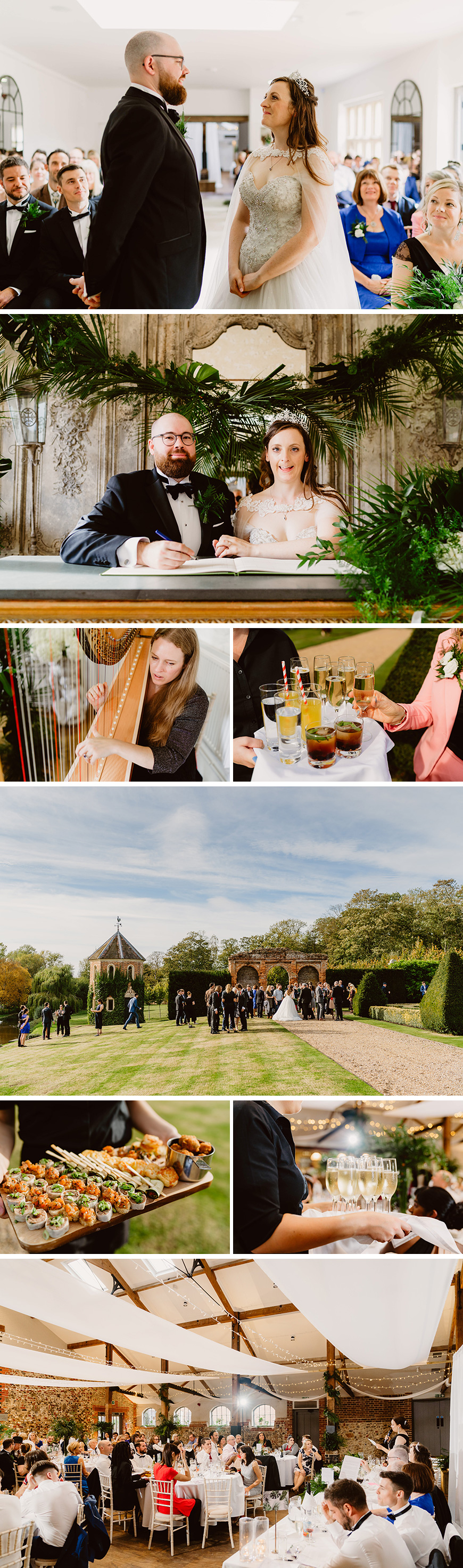 Real Wedding - Lois and Rusty's Contemporary Autumn Wedding at Oxnead Hall | CHWV