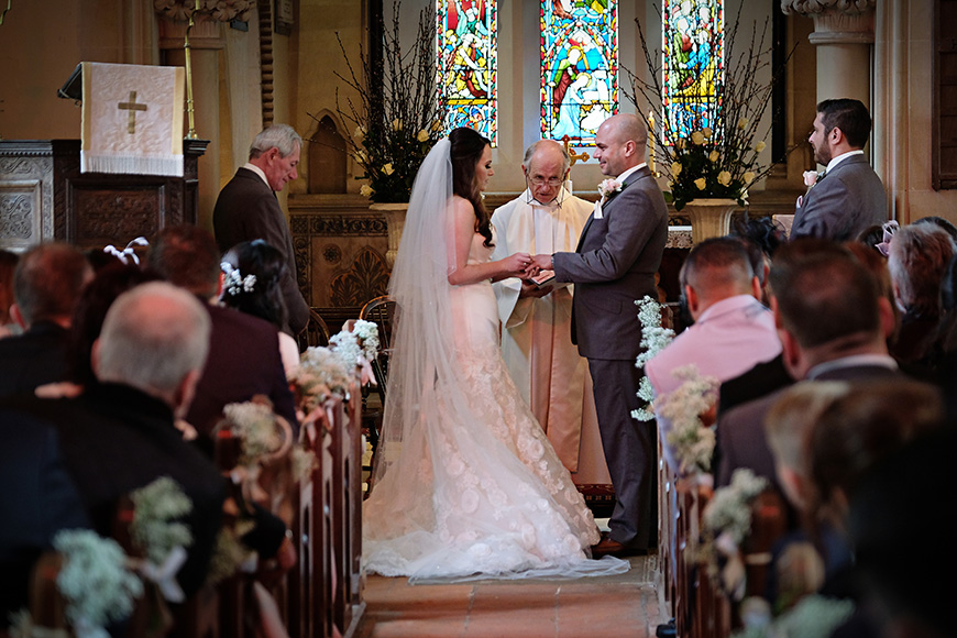 Real Wedding - A Shabby-Chic Style Wedding at Reading's Wasing Park - Church ceremony   CHWV