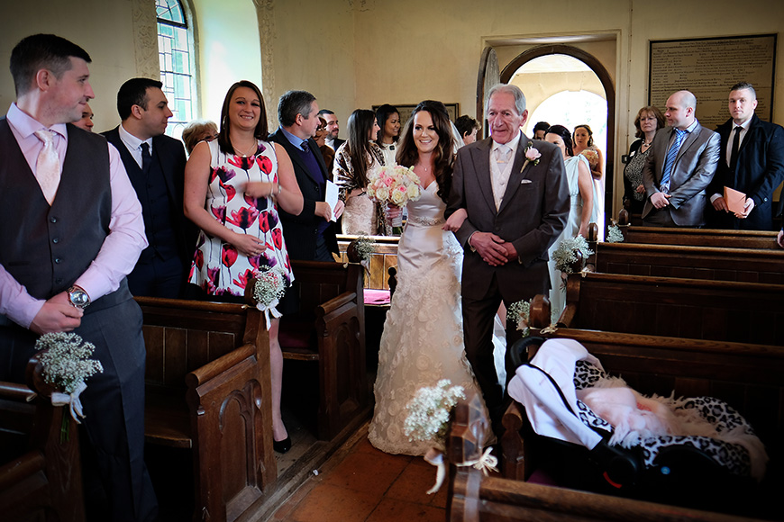 Real Wedding - A Shabby-Chic Style Wedding at Reading's Wasing Park - Church ceremony | CHWV