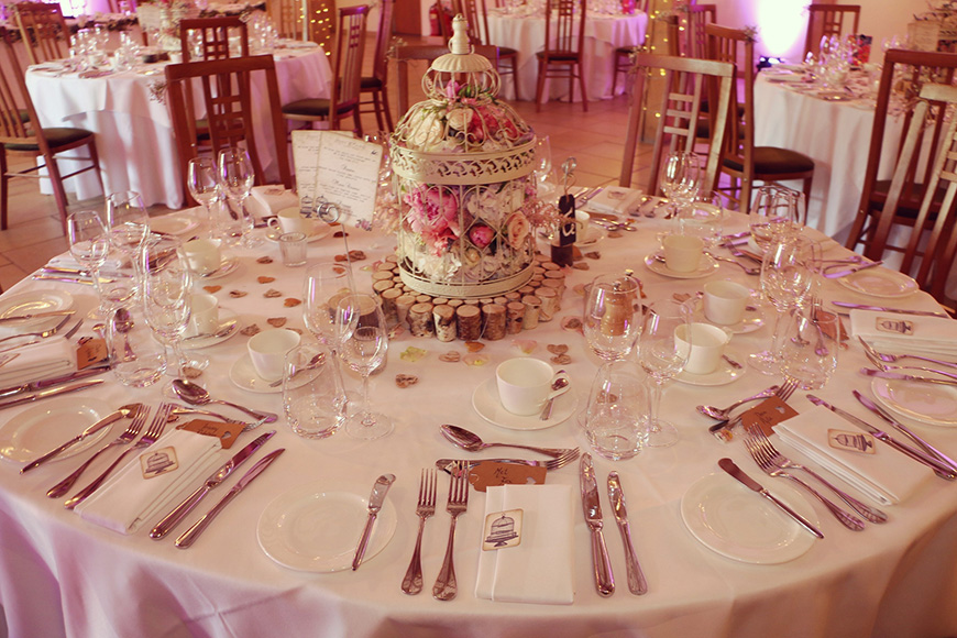 A Stylish Summer Celebration at Rivervale Barn in Hampshire - Birdcage centrepiece | CHWV