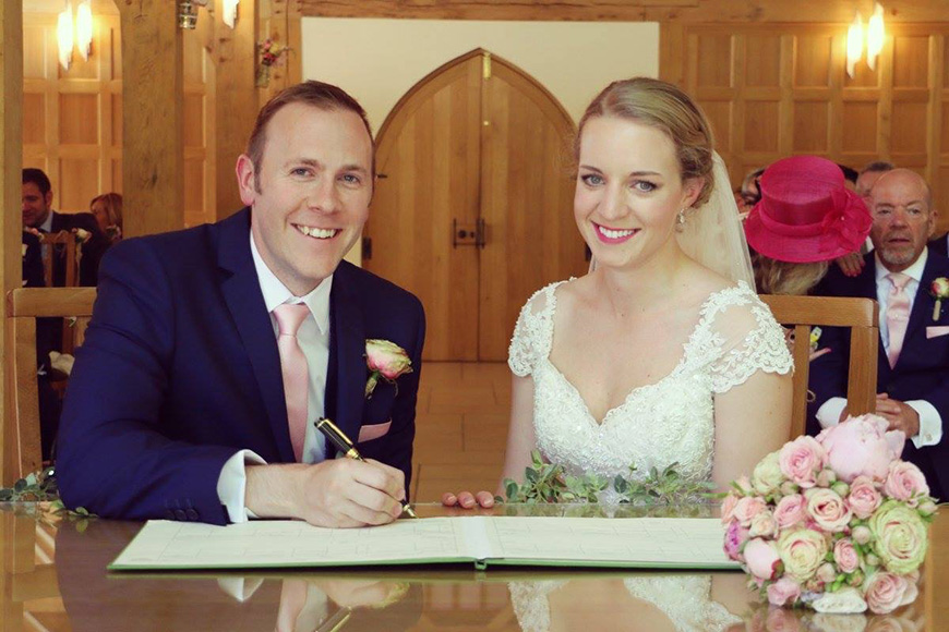 A Stylish Summer Celebration at Rivervale Barn in Hampshire - Ceremony | CHWV