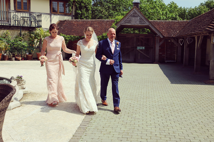 A Stylish Summer Celebration at Rivervale Barn in Hampshire - Lucinda's dress | CHWV